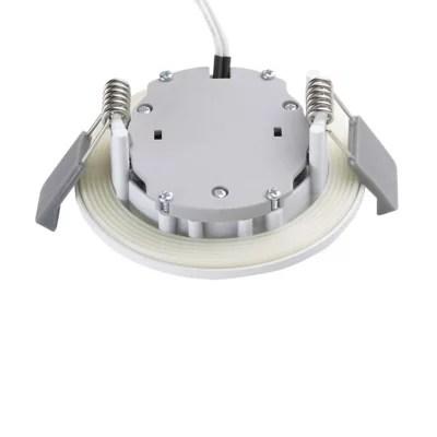 spot a encastrer led diall pour salle de bains ip65 blanc o7 cm