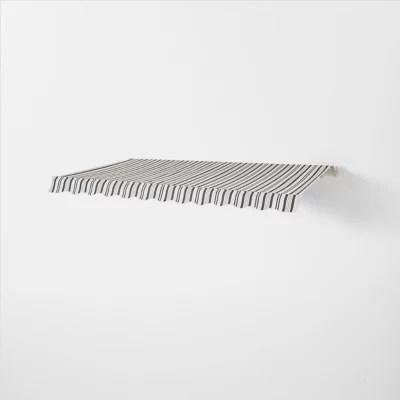 store banne manuel sans coffre gris blanc raye 3 x 2 m