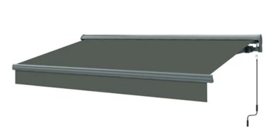 store banne manuel semi coffre gris 5 x 3 m