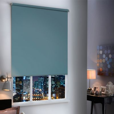 store enrouleur occultant boreas bleu acier 120 x 190 cm