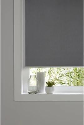 store enrouleur occultant colours ilas polyester gris 55 x 180 cm