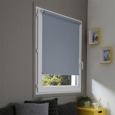 store enrouleur occultant polyester bleu acier easy roll 52 x 170 cm