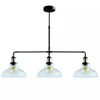 suspension 3 lumieres gally verre metal