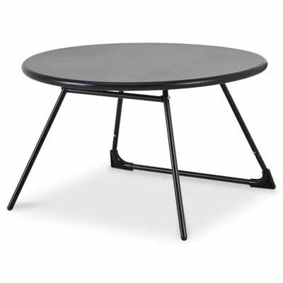 table basse de jardin blooma nova metal noir o70 cm