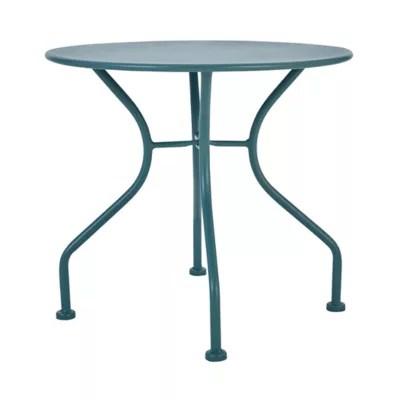 table basse de jardin goodhome vernon vert eucalyptus o50 cm