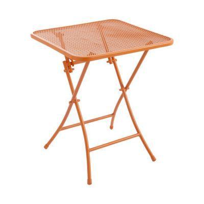 table de jardin chiva mandarine pliante 60 x 60 cm