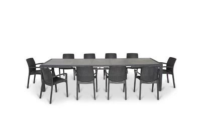table de jardin symphony 160 322 x 97 cm graphite