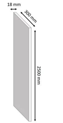 Tablette Melamine Blanc 30 X 250 Cm Ep 1 8 Cm Castorama