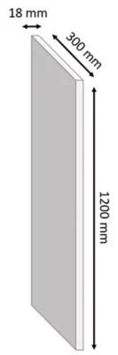 tablette melamine chene gris 30 x 120 cm ep 1 8 cm