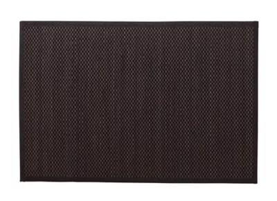 tapis de bain antiderapant bambou noir gris 60 x 90 cm okaido