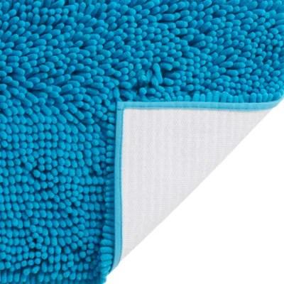 tapis de bain antiderapant bleu 50 x 80 cm abava