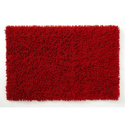 tapis de bain antiderapant rouge 80 x 50 cm anemone