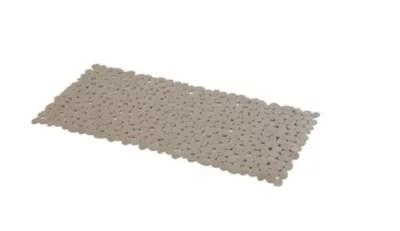 tapis de bain antiderapant taupe 40 x 70 cm batumi
