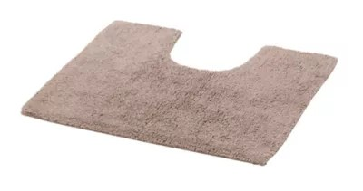 tapis de bain antiderapant taupe 50 x 45 cm diani