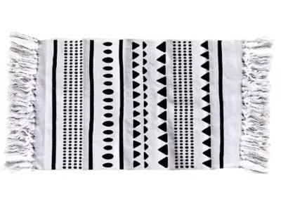 tapis de bain staffa blanc et noir 50 x 80 cm