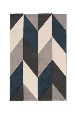 tapis design bleu 100 x 150 cm