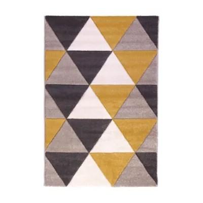 tapis design grands triangles 150 x 200 cm