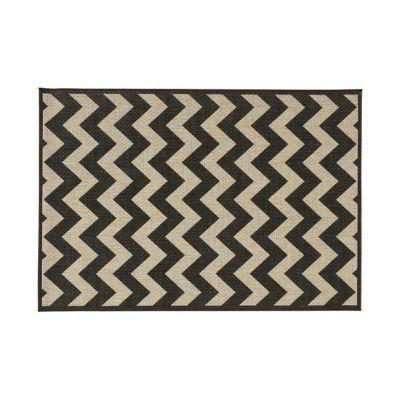 tapis graphique noir et ecru 120 x 170 cm