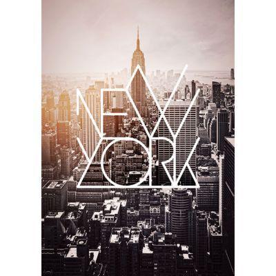 Toile Imprimee New York Design 55 X 75 Cm Castorama