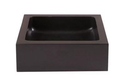 vasque a poser carree pierre naturelle noire cooke lewis sulm