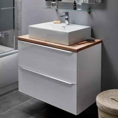 vasque a poser rectangulaire ceramique blanche goodhome albena
