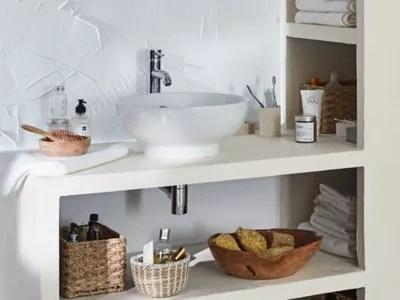 vasque a poser ronde ceramique blanche goodhome nura