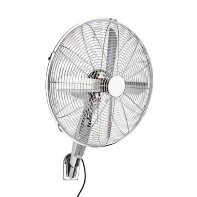 ventilateur mural zf 1602rw 2 oscillation a 86 3 vitesses argent