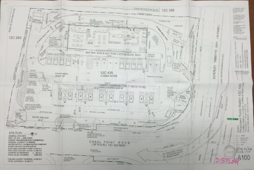 Proposed Canal Point gas station and road layout