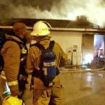 Jail storehouse goes up in flames