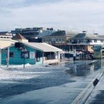 George Town flooded by rough seas