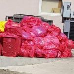 Medical waste piles up outside hospital