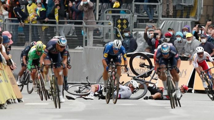 After crash-filled Stage 3, Tour de France riders halt race in protest