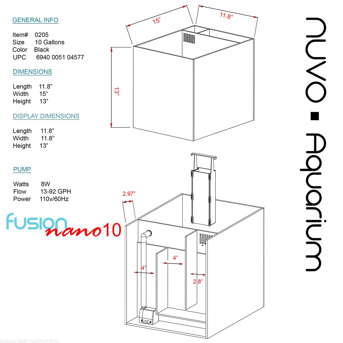 10 Nuvo Fusion Aio Aquarium With Skkye Led Light