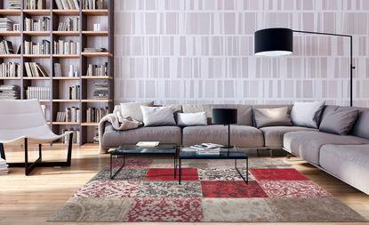 tapis vintage motif patchwork saint