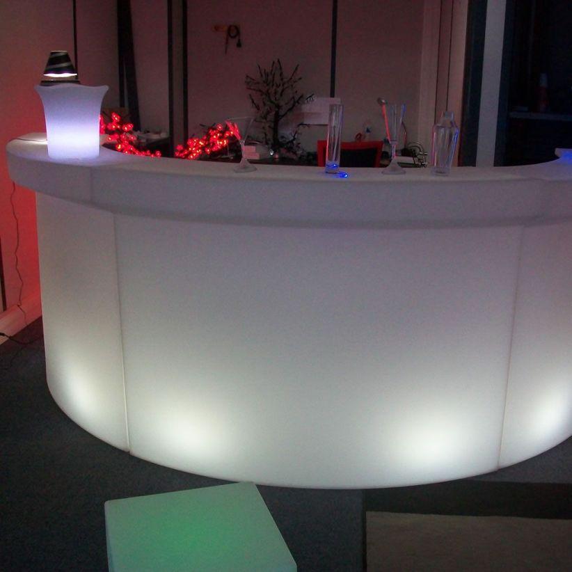 bar lumineux sans fil zinc