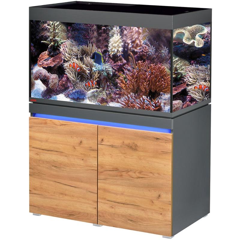 eheim incpiria marine 330 led graphite nature kit aquarium 100 cm 330 l avec meuble et eclairage leds