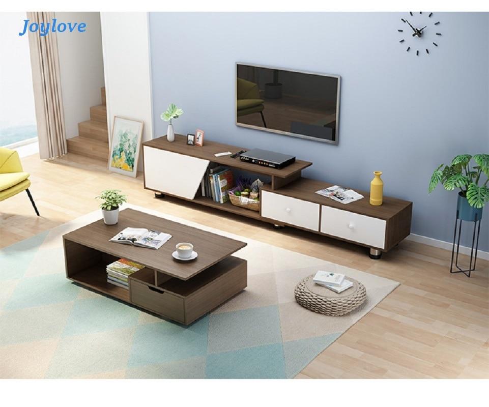 joylove meuble tv table basse combinaison moderne minimaliste salon et chambre a coucher meuble tv a poser nouveau chinois simple