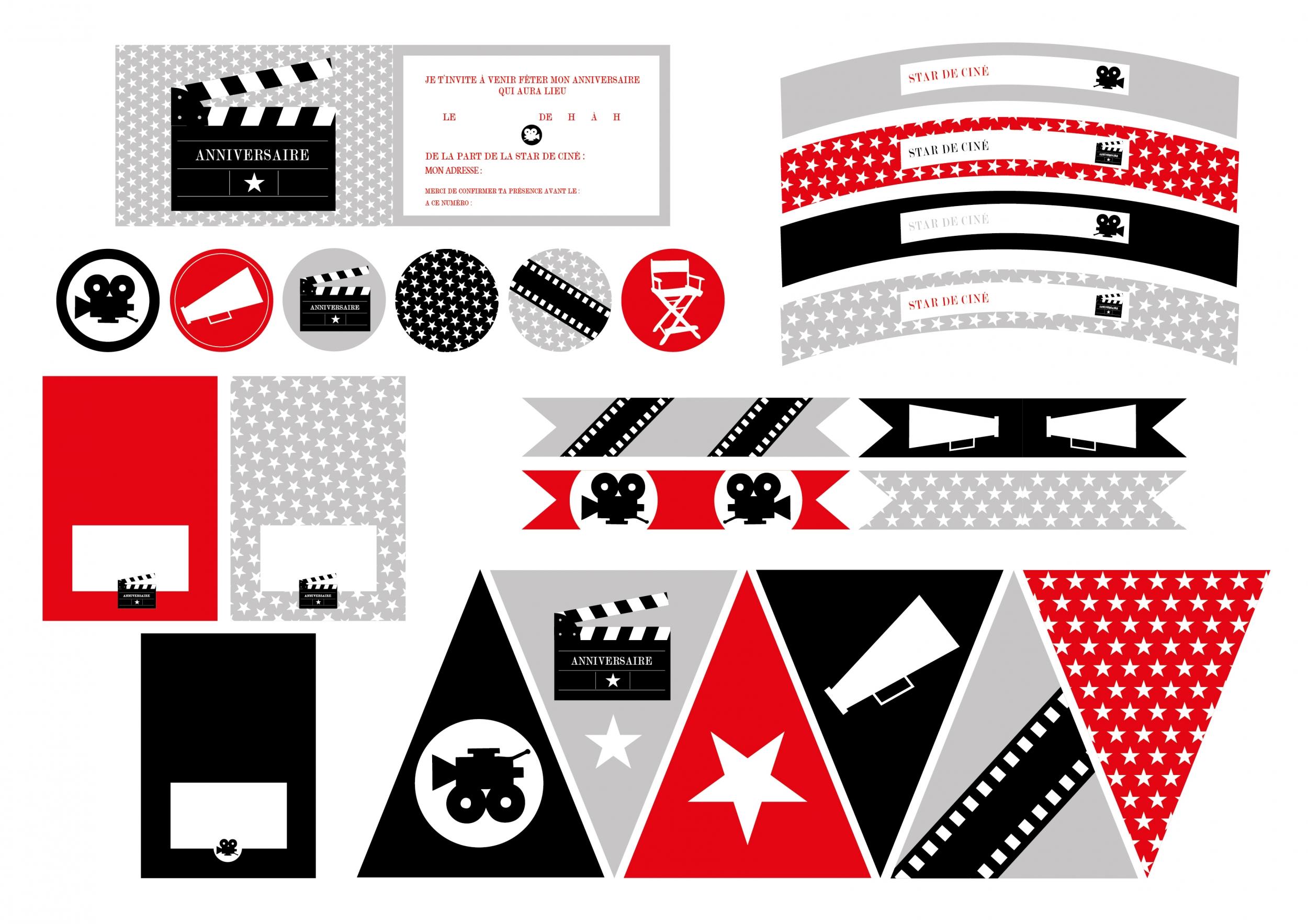 printable anniversaire cinema