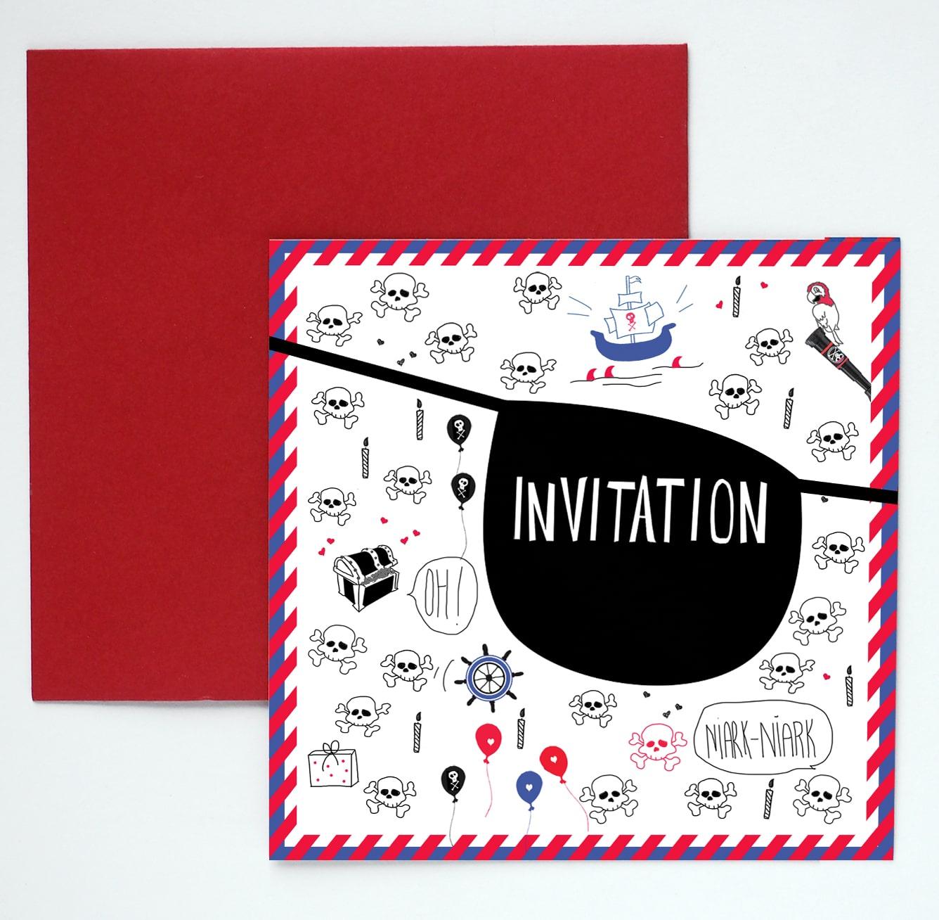 8 cartes d invitation anniversaire pirate