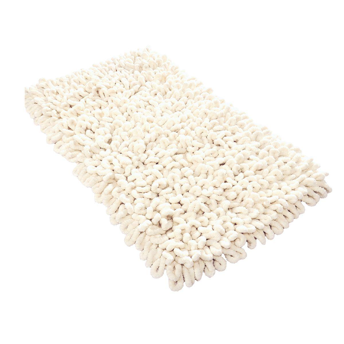 tapis de bain ou d interieur ecru 70 x 120 cm