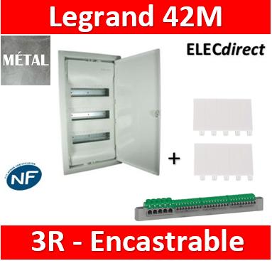 legrand coffret encastre porte metal extra plate 3 rangees 36 6 mod 001533