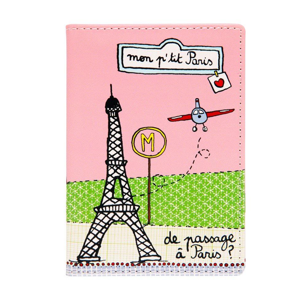Porte passeport Mon P'tit Paris sur www.designfromparis.com