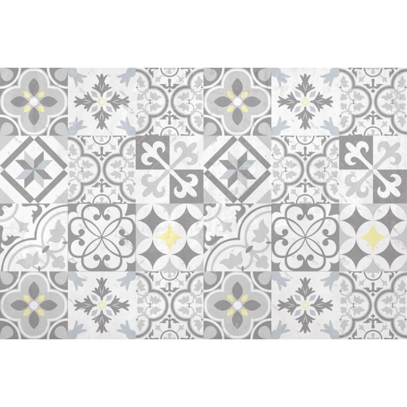 tapis vinyle carreaux de ciment multiformes