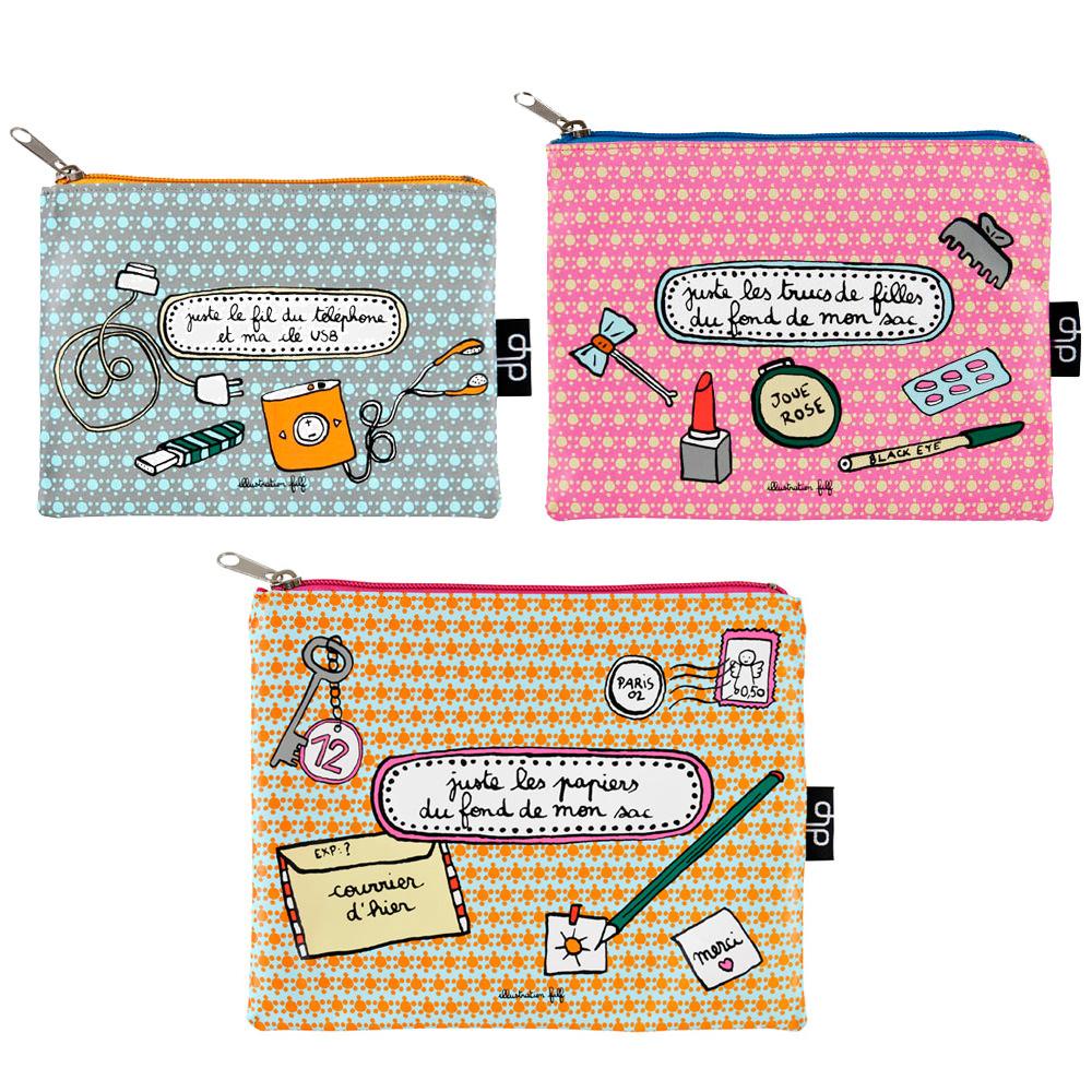 Trio de trousses - Papier - Beauté - USB  Filf : 24,50€