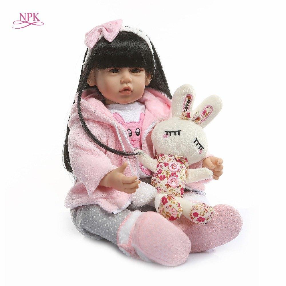 bebe reborn fille poupee 50 cm reborn npk collection dh70311b