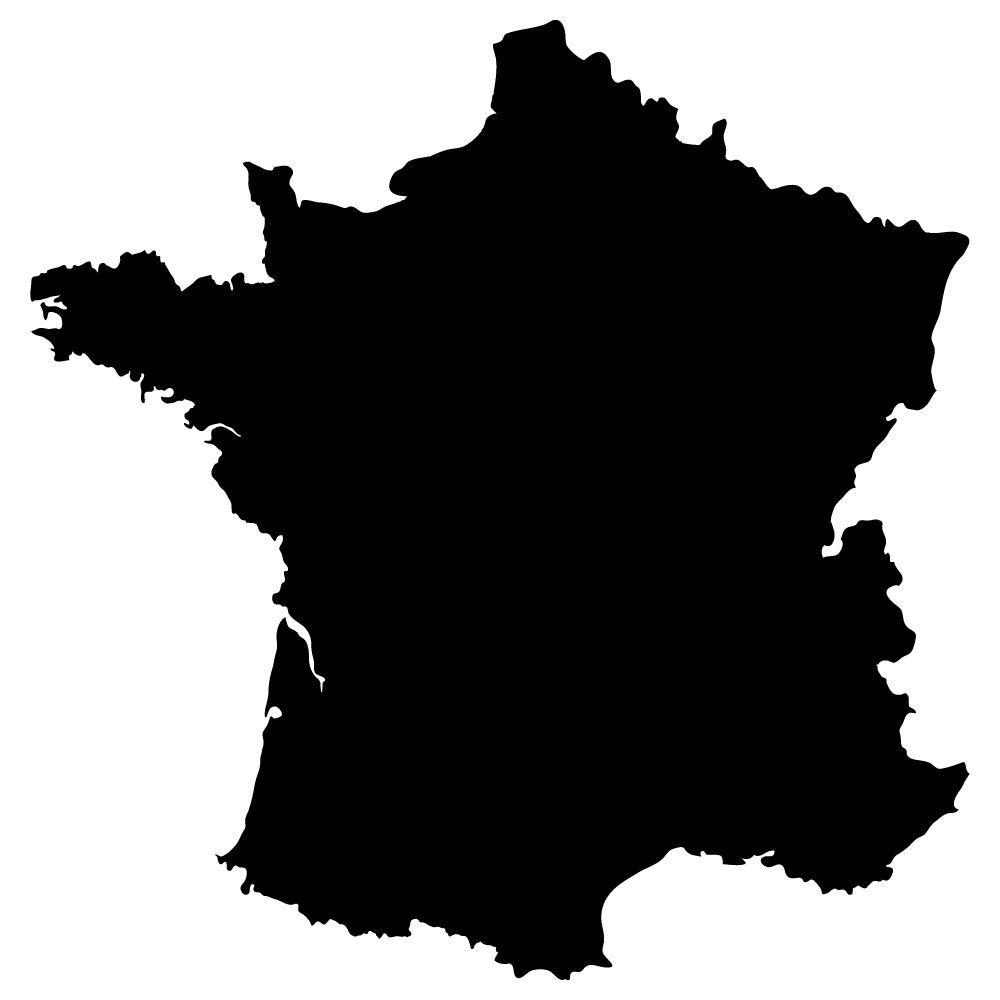 Carte De France Autocollante En Ardoise
