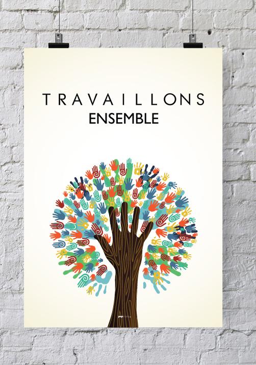 Affiche Pour Salle De Runion Travaillons Ensemble
