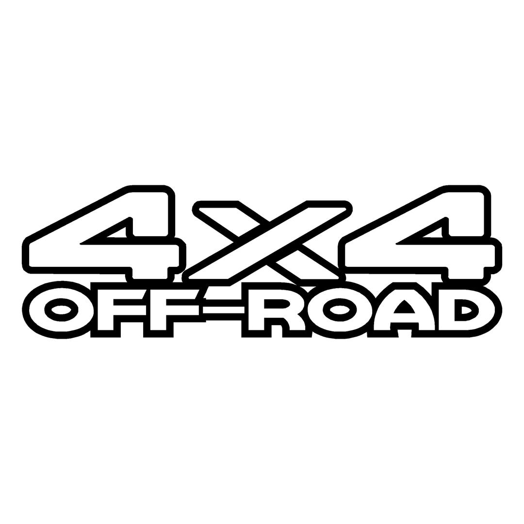 Sticker Logo 4x4 Off Road Ref 29