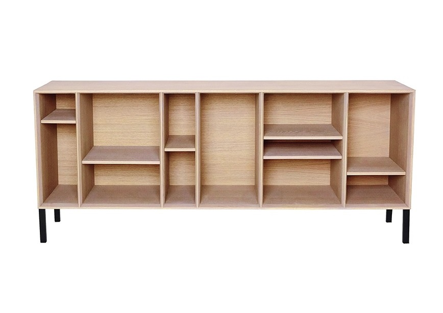 bibliotheque basse compartiments mark l 158 cm