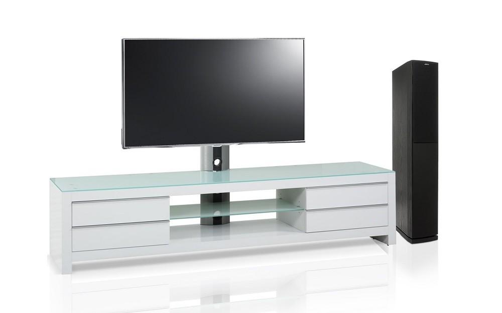 meuble blanc tv design blanc 200 cm